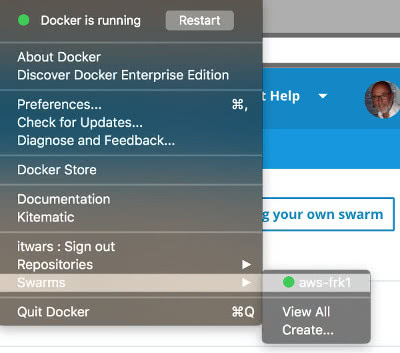 docker 4 mac CE swarm cloud