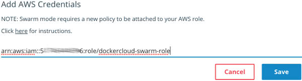 Docker Cloud ARN AWS